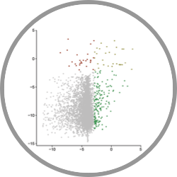 Image of a Scatterplot of Screening a Prey Library