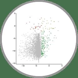 Protein-protein Interaction scatterplot